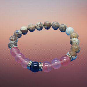 Jasper Rose Quartz Bracelet